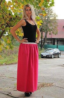 Sukne - Šifónová sukňa - ružová - 4594988_