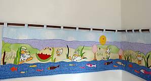 Úžitkový textil - Patchwork - zástena s aplikáciami - 4591850_