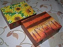 Krabičky - 12 priečinková krabica na čaj  - 4594471_