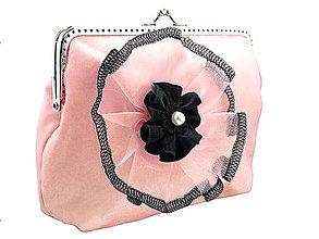 Taštičky - Spoločenská kabelka ružová  0575 - 4598527_