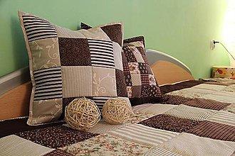 Úžitkový textil - prehoz na posteľ patchwork veľká deka  220x200 cm +2 x vank 40x40 cm - 4597159_