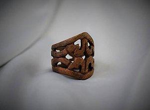 Prstene - Lost Kingdom - Drevený prsteň - 4600507_