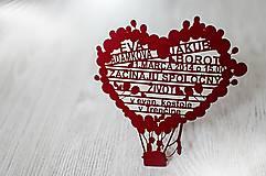 - Balón - svadobné oznámenia - 4597071_