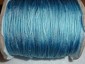 Galantéria - Nylonová šnúrka 1,5mm tyrkysovomodrá 38 - 4600462_
