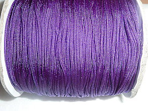 Galantéria - Nylonová šnúrka 1,5mm tmavofialová 39 - 4600470_