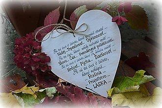 Tabuľky - Veľké srdce s nápisom - citátom - 4600120_