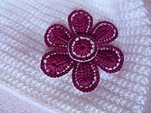 Detské čiapky - ciapocka kvetinka - 4598203_