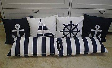 Úžitkový textil - Námornícke pre Mirku :) - modro-biele - 4597234_