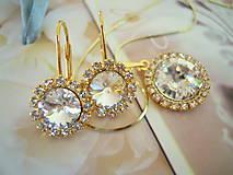 Sady šperkov - SW súprava Crystal zlatá /AKCIA - 4598536_
