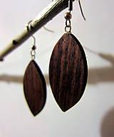 Náušnice - Dřevěné náušnice - palisandr - 4604087_