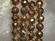 - Hematit zlatý fazetovaný 10mm II - 4605036_