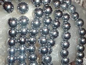 Minerály - Hematit strieborný 10mm - 4604932_