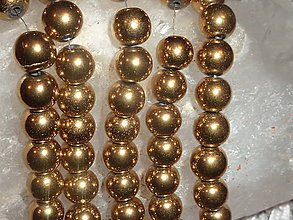 Minerály - Hematit zlatý 8mm - 4604972_