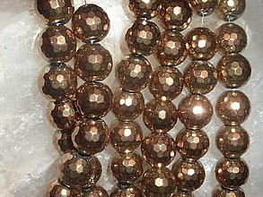 Minerály - Hematit medený fazetovaný 10mm - 4604982_