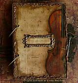 Papiernictvo - Krásna hudba pán kráľ......to sú tóny života/ posledný kus (Diár smotanové strany/ banán zvnútra/ 1 deň/ 1 strana) - 4603925_