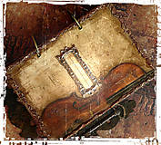 Papiernictvo - Krásna hudba pán kráľ......to sú tóny života/ posledný kus (Diár smotanové strany/ banán zvnútra/ 1 deň/ 1 strana) - 4604163_