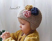 Detské čiapky - Prechodná... trio - 4606900_