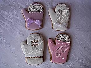 Dekorácie - medovníkové rukavičky - 4609788_