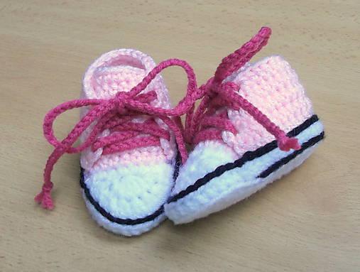 Háčkované tenisky ružové   dominikita - SAShE.sk - Handmade Topánočky 877658f3ef