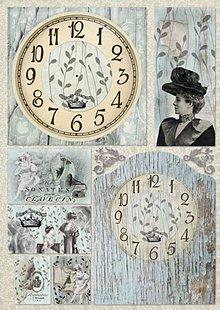 Papier - Papier na decoupage vintage hodiny - 4607731_