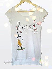 Tričká - Len ja a môj svet - tričko HOPE - 4606490_