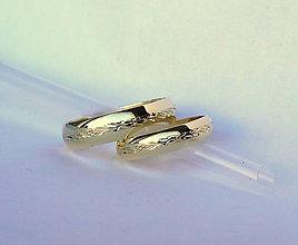 Prstene - jemné zlaté obrúčky - 4607768_