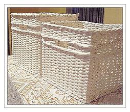 Košíky - Košík s otvorom (27 x 25 v 25) - 4608325_