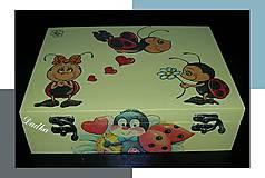 Krabičky - 12 priečinková krabica na sponky ,gumičky atd aj iné farby a motívy spravim - 4609754_