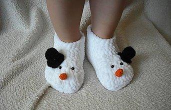 Topánočky - Plyšoví snehuliaci :) - 4611265_