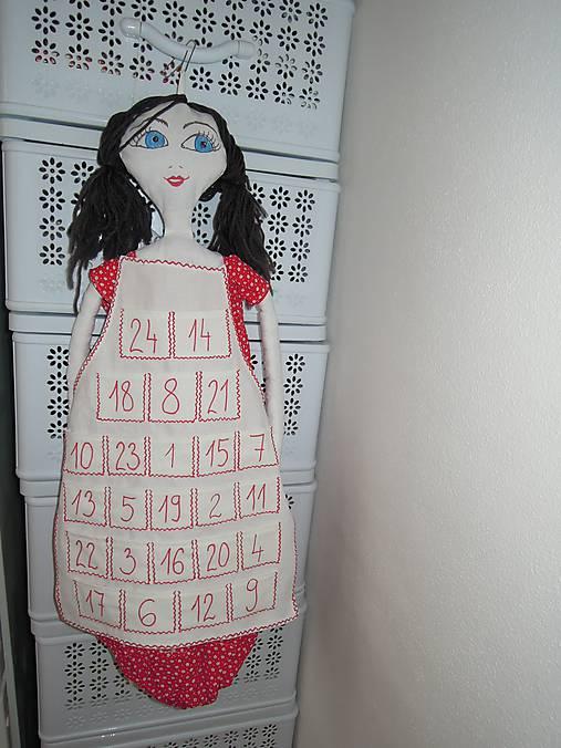 Adventná zásterka pre bábiku