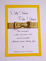 svadobné oznámenie GOLD