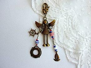 Kľúčenky - Anjelik pre šťastie na kabelku, kľúče... - 4612481_