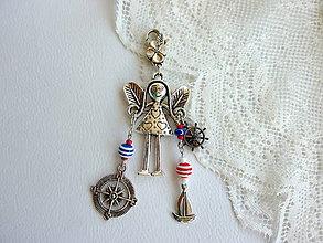 Na mobil - Anjelik pre šťastie na kabelku, kľúče... - 4612482_