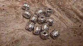 Korálky - Kovový valček 6mm - 4614502_