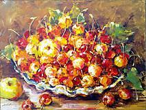 Obrazy - Čerešne...a 2 jabĺčka - 4612845_
