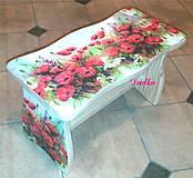 Nábytok - Červené maky šamlík - 4610687_
