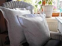 Úžitkový textil - 2 ks obliečky  na vankúš bielo - strieborná - 4617833_