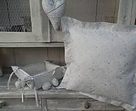 Úžitkový textil - 2 ks obliečky  na vankúš bielo - strieborná - 4617836_