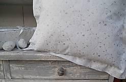Úžitkový textil - 2 ks obliečky  na vankúš bielo - strieborná - 4617840_