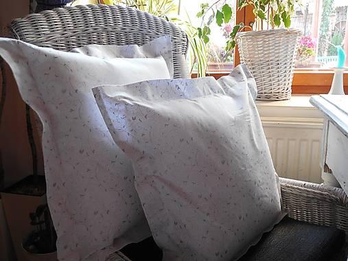 2 ks obliečky  na vankúš bielo - strieborná
