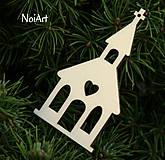 Vianoce - Vianočná ozdoba KOSTOLÍK - 4617067_