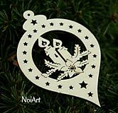 Vianoce - Vianočná ozdoba Guľa so sviečkami - 4617403_