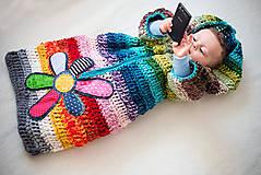 Detské oblečenie - Pestrý fusak s kvetom bez podšívky - 4616714_
