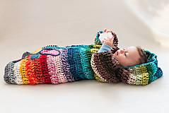 Detské oblečenie - Pestrý fusak s kvetom bez podšívky - 4616715_