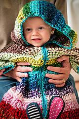 Detské oblečenie - Pestrý fusak s kvetom bez podšívky - 4616716_