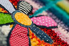 Detské oblečenie - Pestrý fusak s kvetom bez podšívky - 4616717_