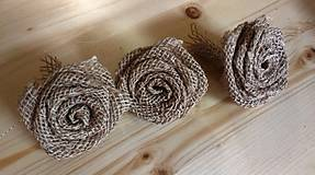 Galantéria - Jutovinové ruže - 4617083_