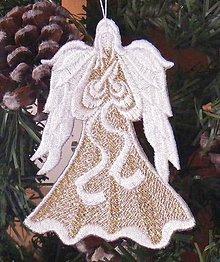 Dekorácie - vianočný anjel - 4616637_
