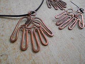 Sady šperkov - Medená súprava šperkov- Ruky - 4617240_