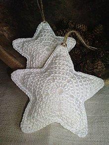 Dekorácie - hviezdy biele - 4618936_